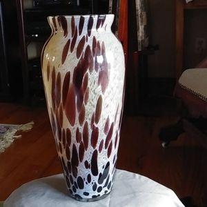 Stunning statement large Italian art glass Vase